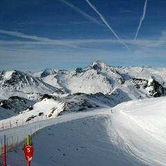 Panorama from Val Cenis ski area