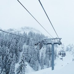 Fresh snow in Avoriaz. Feb. 3, 2013