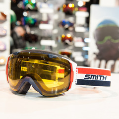 The Doctor Bob goggle from Smith Optics, an homage to founder Bob Smith who passed away in 2012. It's the first orange lens from Smith Optics in years. 