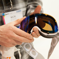 POC's Lid goggles are rimless for great aesthetics. They have an easy change, interchangeable lens system with a lens that pops out in a snap and connects via nine connection points. The goggles also feature three layers of foam for comfort and breathabil