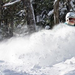 Powder skiing at Stowe Mountain Resort.