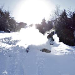 Soft landings this weekend at Wildcat Mountain.