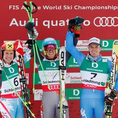 Marcel Hirscher (AUT), Ted Ligety (USA), Manfred Moelgg (ITA)