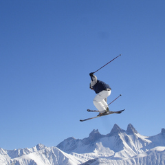 Slopestyle fresession à Saint Sorlin d'Arves lors du Jacky Chaud