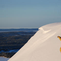 May skiing in Ruka, Finland