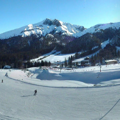 Ski sur le domaine du massif du Sancy