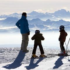 Ski sur le domaine skiable des Rousses - ©OT des Rousses