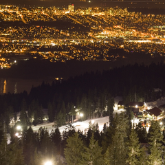 Night-Skiing am Mount Seymour