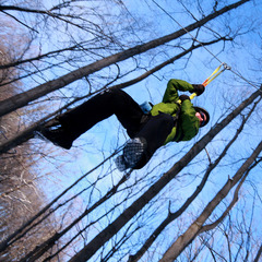 Zipline Adventure available year-round at Boyne Mountain Resort.