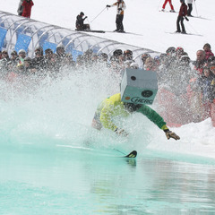 Pond skimming at Mt. Bachelor.