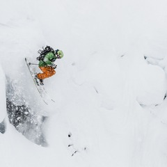 Giffin sending it at Mt. Baker.