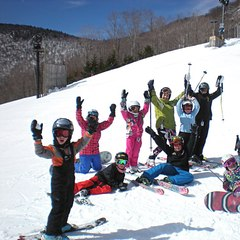 Spring skiing fans. Photo Courtesy of Hunter Mountain.
