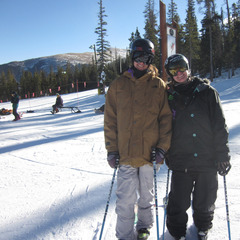 Keri Herman and myself skiing at Keystone. - ©Diane Herman