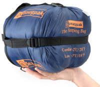 Le volume et l'encombrement du sac de couchage doit être pris en compte