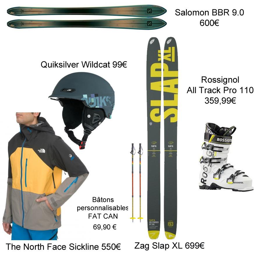 les skis et chaussures pour freerider