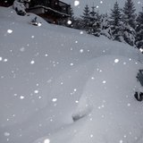 Verse sneeuw in de Alpen op 17 januari 2014