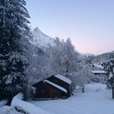 Fresh snow in the French Alps Feb. 10, 2014