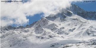 Super nevicata d'estate sulle Alpi