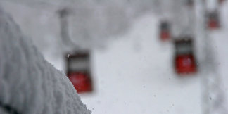 Verse sneeuw kort voor Pasen 2014