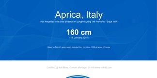 Snowiest resort of the week: V 3. týždni sú na špici talianske strediská ©skiinfo.de