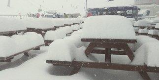 Schneefall in den Alpen (24. Februar 2015)