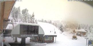 Raport narciarski: świeży śnieg w Austrii, kolejne ośrodki otwierają sezon - ©Webcam Turracher Höhe