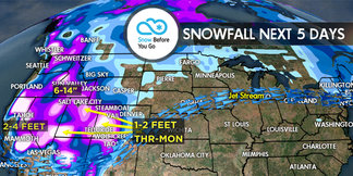 1.19 Snow Before You Go: 3 Significant Storms Westbound ©Meteorologist Chris Tomer