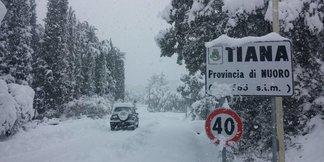 Eccezionale nevicata in Sardegna! [Fotogallery] - ©Sardegna Live Facebook - Foto di Serena Demuru