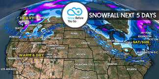 3.16 Snow Before You Go: Look North for Fresh Powder - ©Meteorologist Chris Tomer