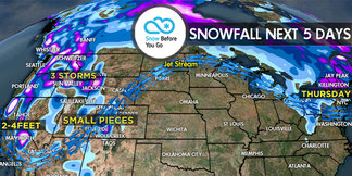 2.16 Snow Before You Go: 3 Storms, 3 Feet - ©Meteorologist Chris Tomer