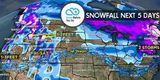 2.9 Snow Before You Go: Single Storm to Bring Double Digit Powder ©Meteorologist Chris Tomer