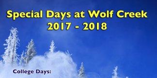College Day 2/25/18 ©Wolf Creek Ski Area