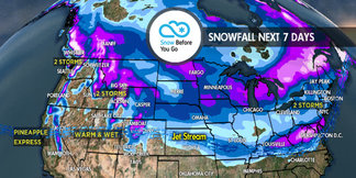 4.5 Snow Before You Go: Pineapple Express to Dominate West ©Meteorologist Chris Tomer