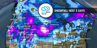 Multiple Storms & 1-3 Feet for Parts of West: 11.29 Snow B4U Go ©Meteorologist Chris Tomer