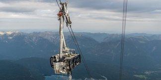 Bergekorb kracht in Gondel: Seilbahn auf die Zugspitze derzeit außer Betrieb ©Bayerische Zugsptzbahn AG