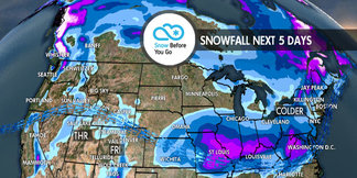 Snow Hits Soon for West & Northeast: 1.10 Snow B4U Go ©Meteorologist Chris Tomer