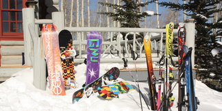 Ski hire or schlep your own skis to the slopes? - ©James Young