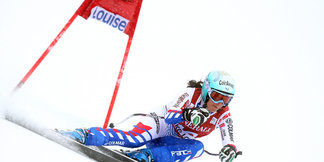 Lake Louise : Marie Marchand-Arvier au pied du podium ©Agence Zoom