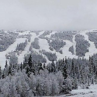 Snowfall in Norway Oct. 17, 2014