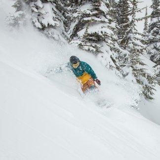 Whistler Blackcomb spring skiing snowboarder - ©Mitch Winton/Coast Mountain Photography