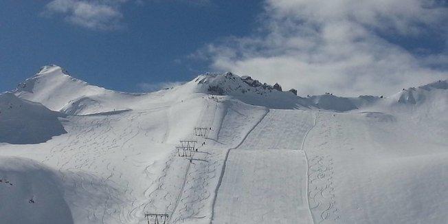 Májový sneh v Taliansku