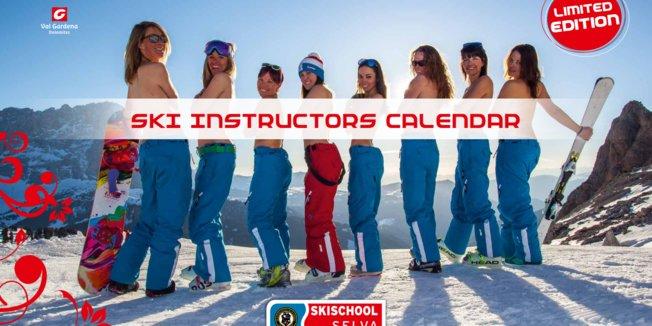 Calendrier des monitrices de ski de Val Gardena - ©Scuola Sci Selva http://www.scuolasciselva.com - Robert Perathoner ski instructor & photographer - www.foto-prodigit.com