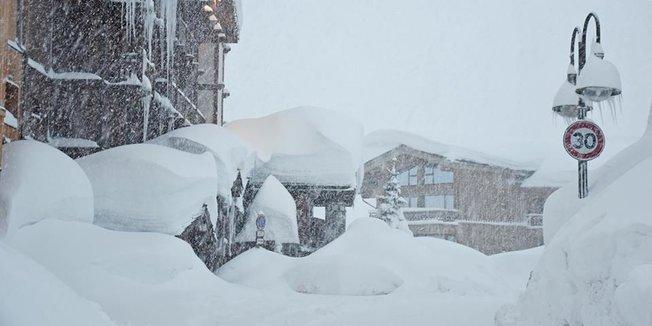 Retour d'est : 1,5 mètre de neige en 48h - © OT de Tignes