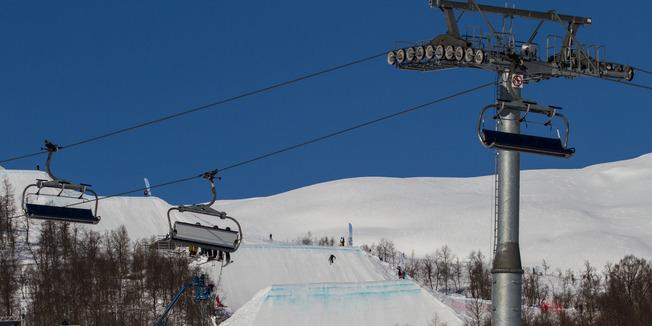 Knallvær og folkefest med 3000 personer i bakkene under Freestyle-VM i Myrkdalen - © Jan Petter Svendal