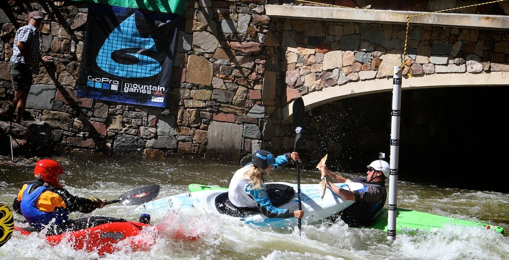 Taking a kayak to the face during the game's 8 ball challenge  - © Tim Shisler