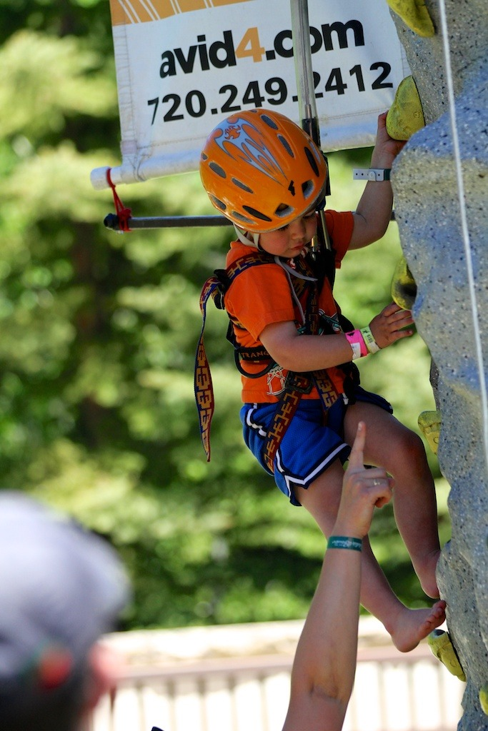 Even the youngest kids got a chance to put on a harness and scale the wall - ©Tim Shisler
