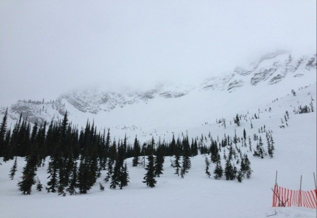 Shedded Fernie two days in a row. Nice fresh pow up in the bowls. Bottom gets a little crispy, but all around great conditions.