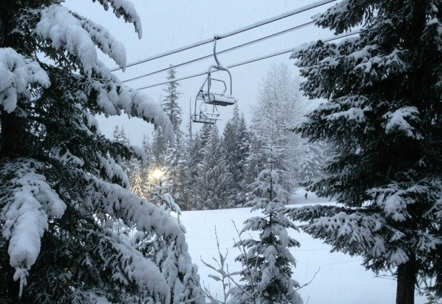 lots of fresh pow this am and more to come!