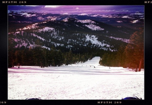 great conditions, cloudy day, a little crowded, but lines move fast.