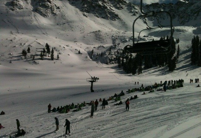 Good crowd for avalanche control on Saturday. Incredible sight!